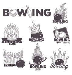 Bowling club sketch championship ball vector