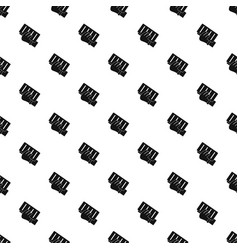 brick in a hand pattern vector image vector image