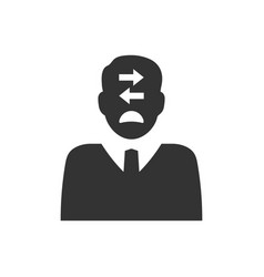 Business decision making confusion icon vector