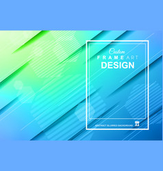 cover or flyer layout with geometric colorful vector image