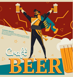 Craft beer and revolution soldier vector