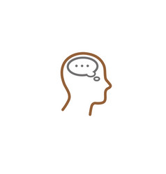 creative human head chat logo vector image