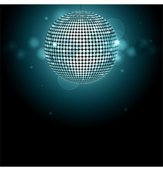Disco ball background glowing vector