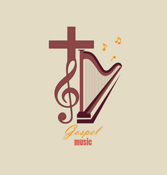 Emblem christian music vector