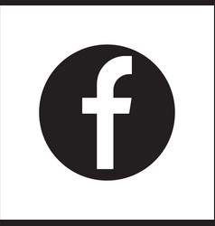 Facebook logotype social network vector