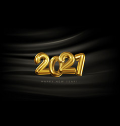 festive banner with volumetric golden numbers vector image