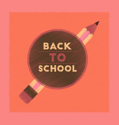 flat shading style icon back to school pencil vector image