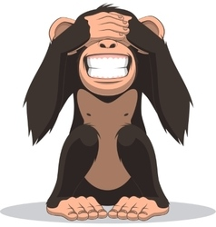 Funny little monkey vector