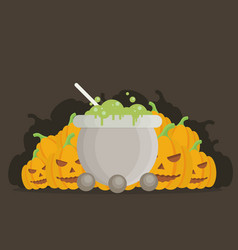 Halloween cartoon background vector
