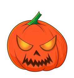 halloween pumpkins funny faces autumn vector image
