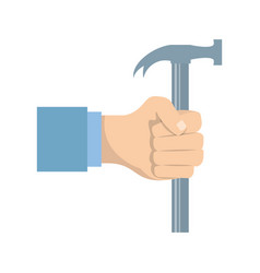 Hand with tool vector