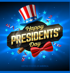 Happy presidents day greeting card design with vector