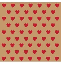 Heart polka dots vector