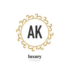 Initial letter ak luxury creative design logo vector
