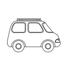 isolated travel car vector image