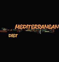 Long live the mediterranean diet text background vector