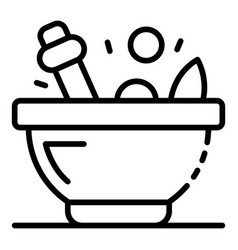 magic potion bowl icon outline style vector image