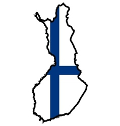 Map in colors of Finland vector image