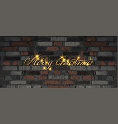 merry christmas golden lettering vector image