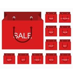 Modern shopping icons set vector