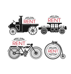 object rental car vector image