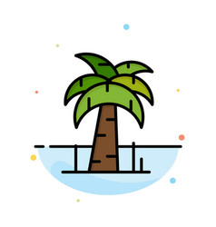 palm tree brazil abstract flat color icon template vector image