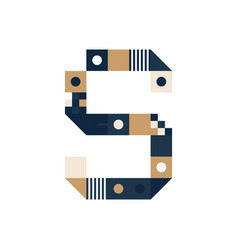 pixel art letter s colorful letter consist of vector image