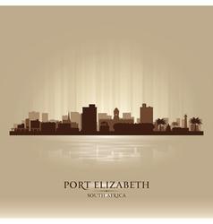 Port elizabeth south africa city skyline silhouet vector