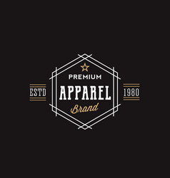 premium apparel brand retro typography abstract vector image