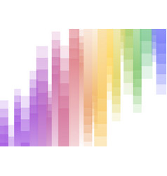 Rainbow speed pixel abstract background vector