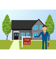 Real estate broker cottage for sale vector image