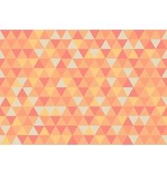 Retro triangle pattern apricot vector
