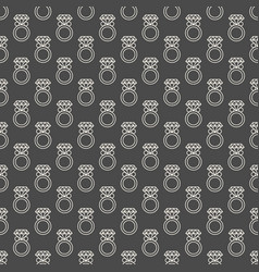 seamless pattern with rings vector image