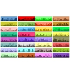 Set of city banners vector