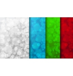 Set of color blurred backgrounds vector
