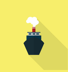 ship icon set of great flat icons with style vector image