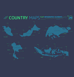Singapore malaysia indonesia and thailand vector