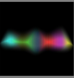 sound wave colored equalizer audio digital vector image