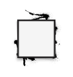 square black frame on white background with vector image
