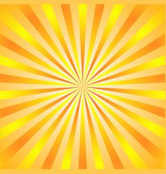 Sun rays background yellow orange radiate sun vector
