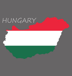 symbol poster banner hungary map of hungary with vector image