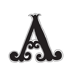 The vintage style letter A vector image
