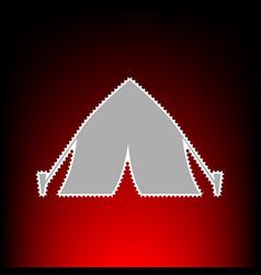 tourist tent vector image