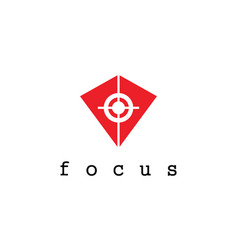 Triangle focus logo vector