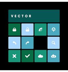 Design flat dark green vector