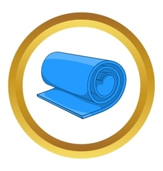 Fitness mat icon vector image