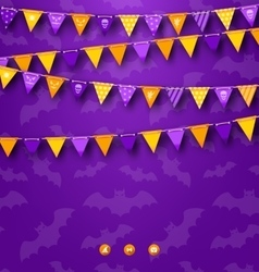 Halloween party background with bunting vector