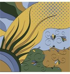 multicolor floral vector image vector image
