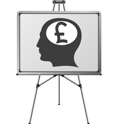 pound brain of a man vector image vector image