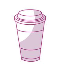 Silhouette tasty coffee drink beverage vector